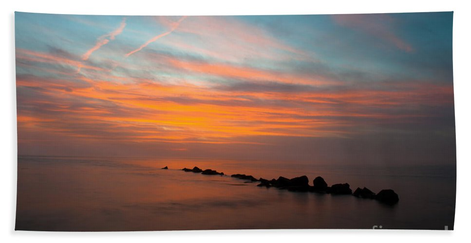 Sunset Hand Towel featuring the photograph Orange Glow by Dale Powell