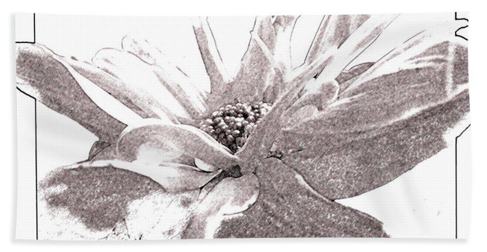 Nature Bath Sheet featuring the digital art Orange Juice II by Debbie Portwood