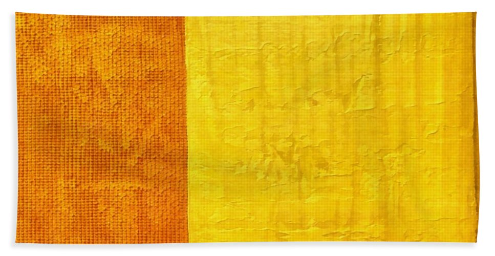 Abstract Paintings Hand Towel featuring the painting Orange Pineapple by Michelle Calkins