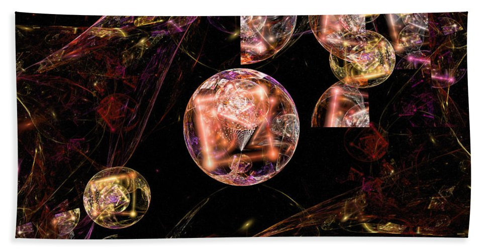 Fractal Hand Towel featuring the digital art Orbs Of Infinity by David Lazarus