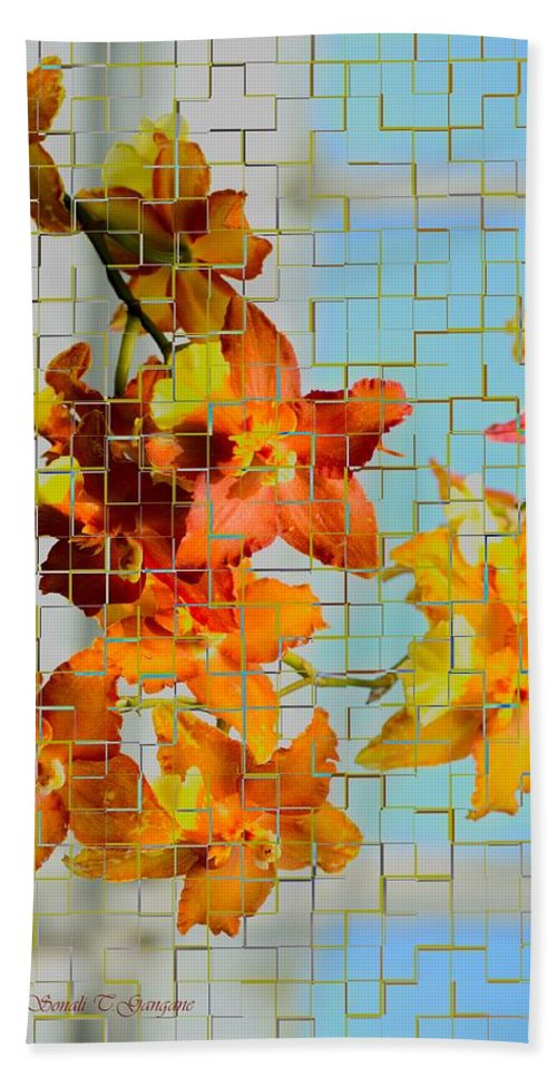 Orchid Drapes Hand Towel featuring the photograph Orchid Drapes by Sonali Gangane