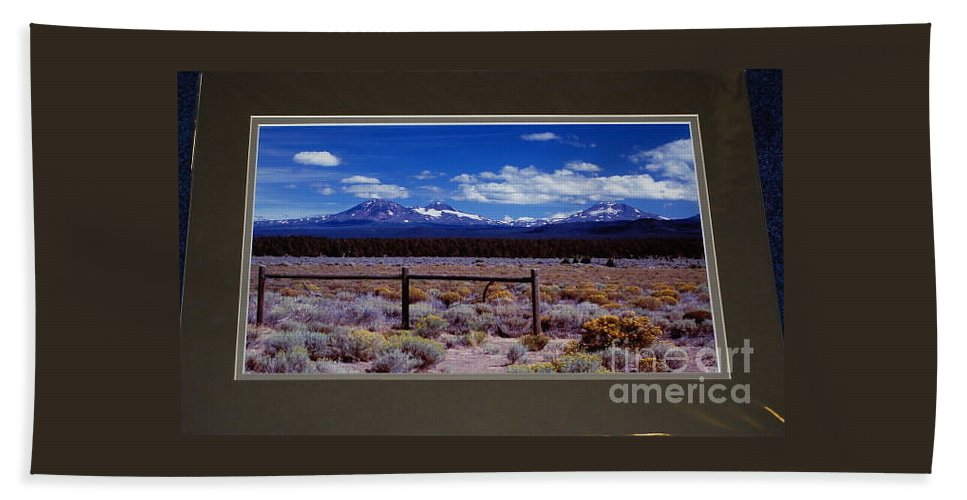 Three Sisters Hand Towel featuring the photograph Oregon Cascades by Sharon Elliott