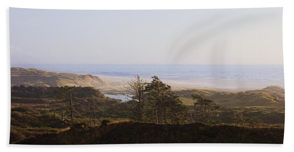 Bath Sheet featuring the photograph Oregon Coast 3 by Cathy Anderson