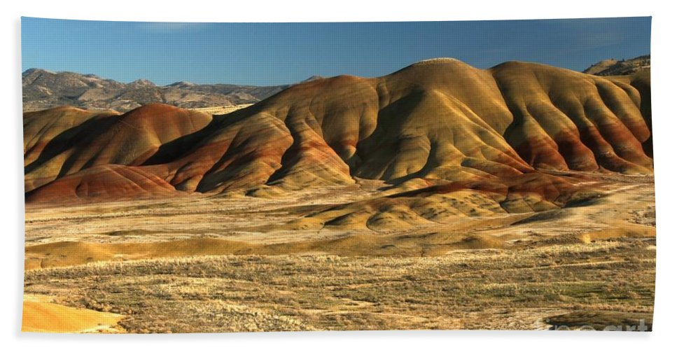 Hand Towel featuring the photograph Oregon Painted Hills by Adam Jewell