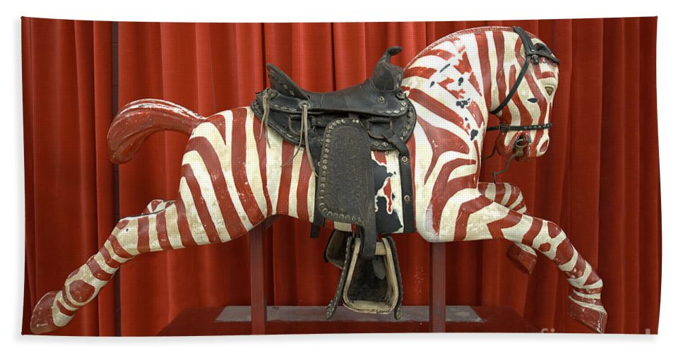 Original Zebra Carousel Ride Hand Towel featuring the photograph Original Zebra Carousel Ride by Liane Wright