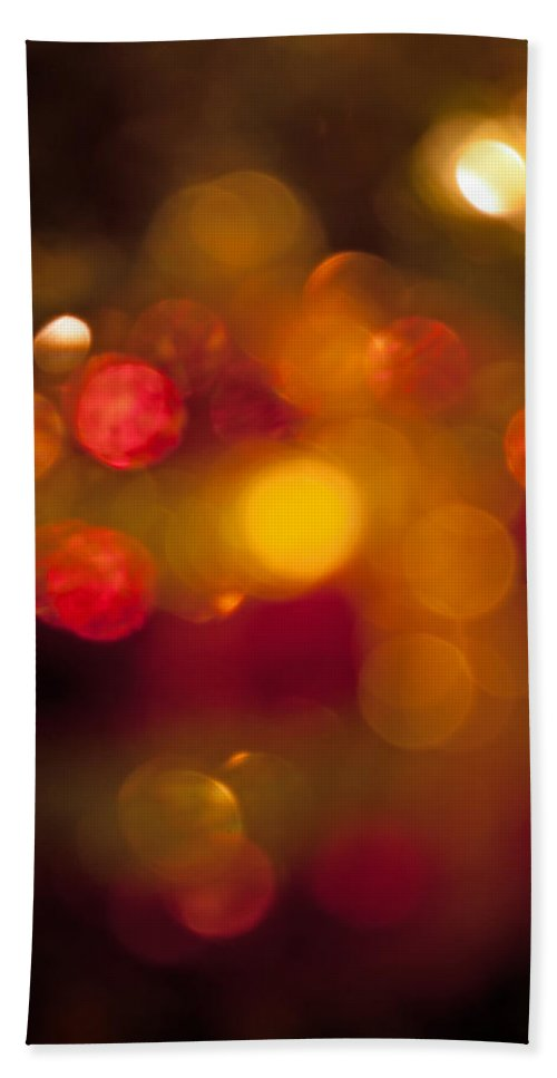 Christmas Hand Towel featuring the photograph Ornamental Bokeh by Photos By Cassandra