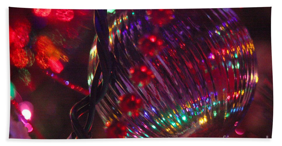 Merry Christmas Hand Towel featuring the photograph Ornaments-2063 by Gary Gingrich Galleries