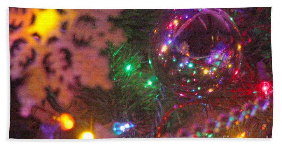 Merry Christmas Hand Towel featuring the photograph Ornaments-2090 by Gary Gingrich Galleries
