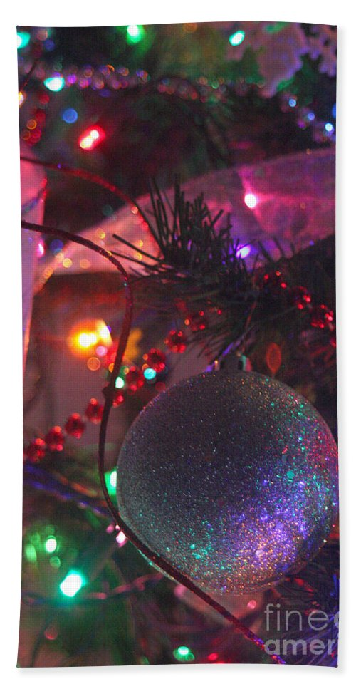 Merry Christmas Bath Sheet featuring the photograph Ornaments-2143 by Gary Gingrich Galleries