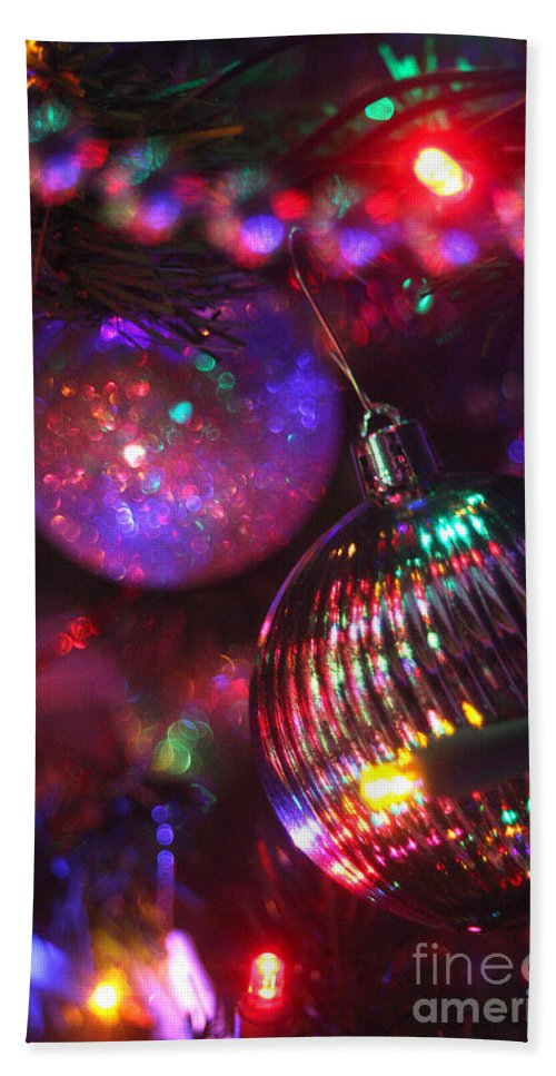 Merry Christmas Bath Sheet featuring the photograph Ornaments-2159 by Gary Gingrich Galleries