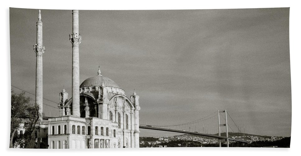 Ortakoy Mosque Hand Towel featuring the photograph Ortakoy Mosque by Shaun Higson