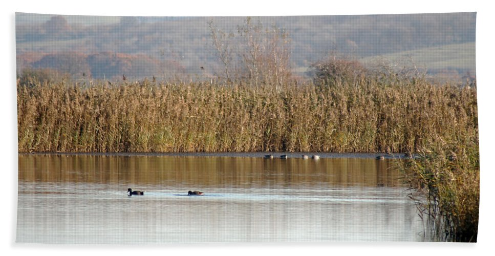 Landscape Hand Towel featuring the photograph Otmoor Nature Reserve by Tony Murtagh