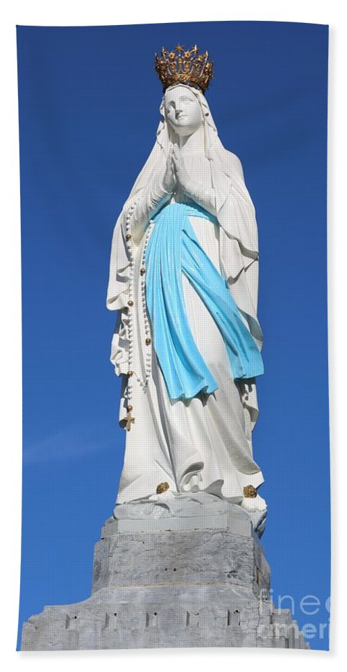 Mary Bath Sheet featuring the photograph Our Lady Of Lourdes by Carol Groenen