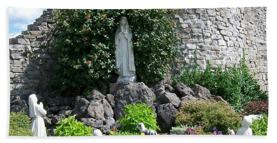 Religious Hand Towel featuring the photograph Our Lady Of The Woods Shrine Lll by Michelle Calkins