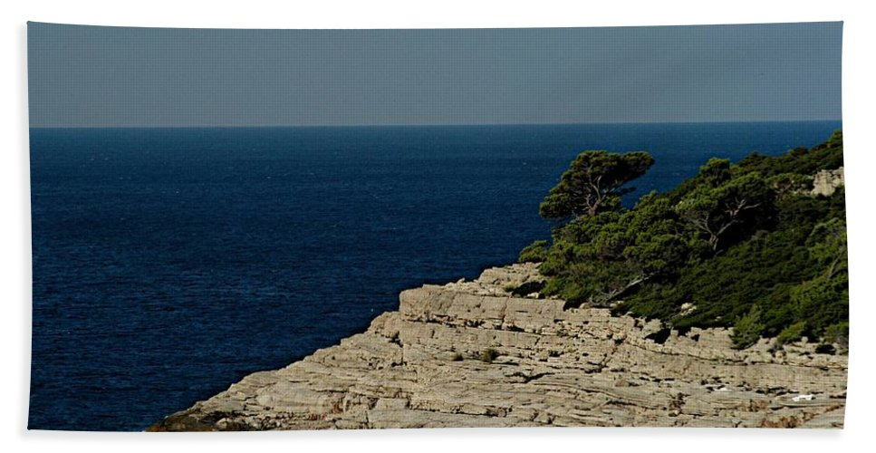 Adriatic Sea Hand Towel featuring the photograph Out Bound by Joseph Yarbrough
