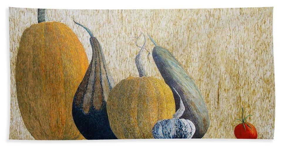 Pumpkin Bath Sheet featuring the painting Out Cast by A Robert Malcom