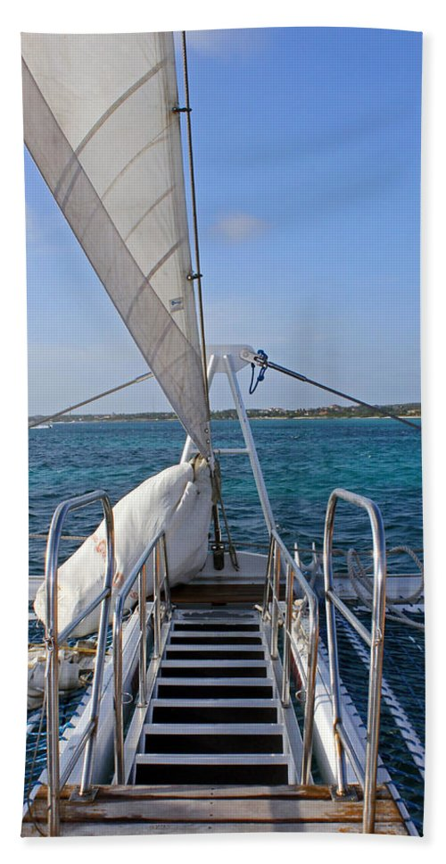Sail Hand Towel featuring the photograph Out For A Sail by Carolyn Stagger Cokley