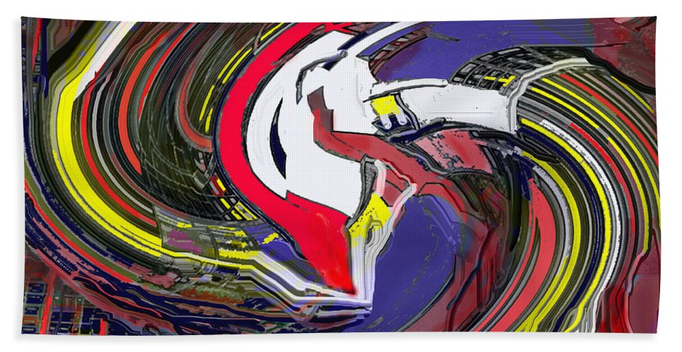 Abstract Hand Towel featuring the digital art Out by Ian MacDonald