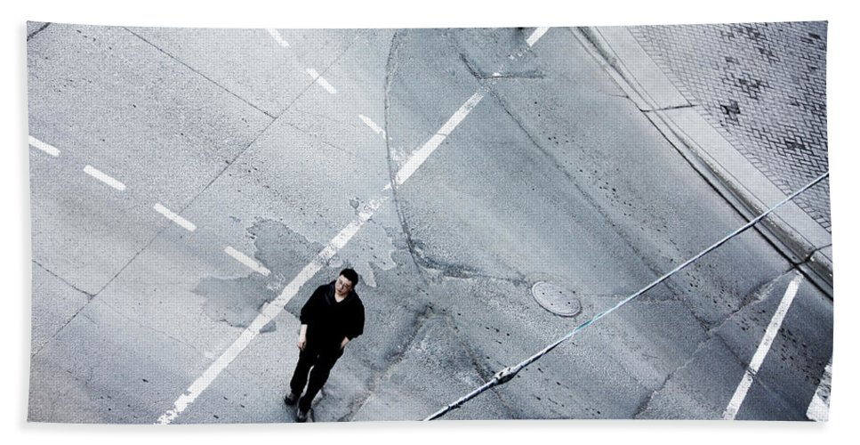 Street Photography Bath Sheet featuring the photograph Out Last Time by The Artist Project