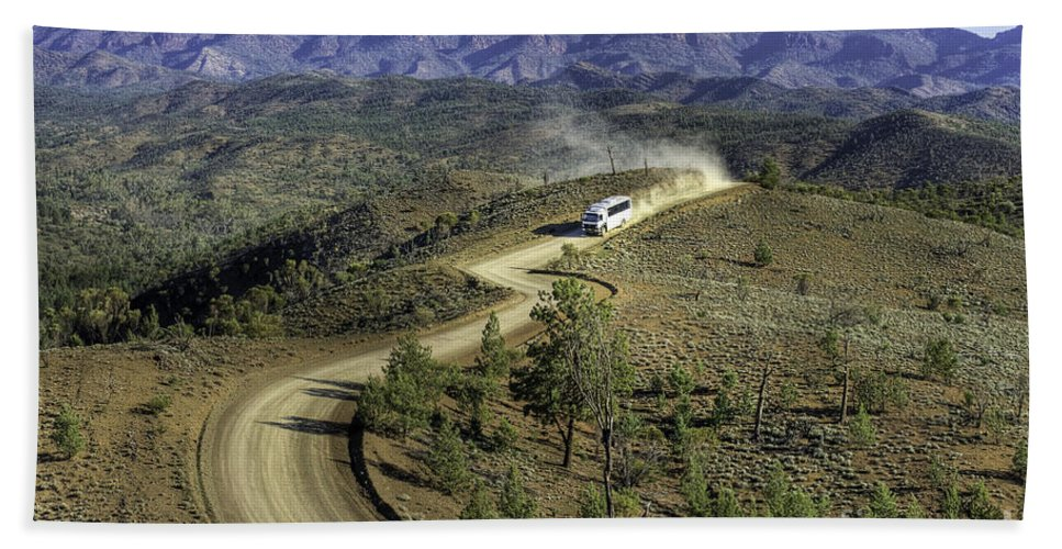Outback Hand Towel featuring the photograph Outback Tour by Ray Warren