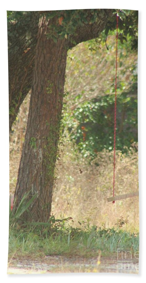 Swing Hand Towel featuring the photograph Outdoor Swing by Michelle Powell