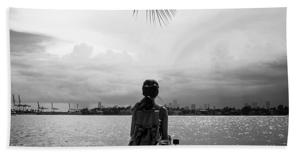 Miami Bath Sheet featuring the photograph Outlook by Ferry Zievinger