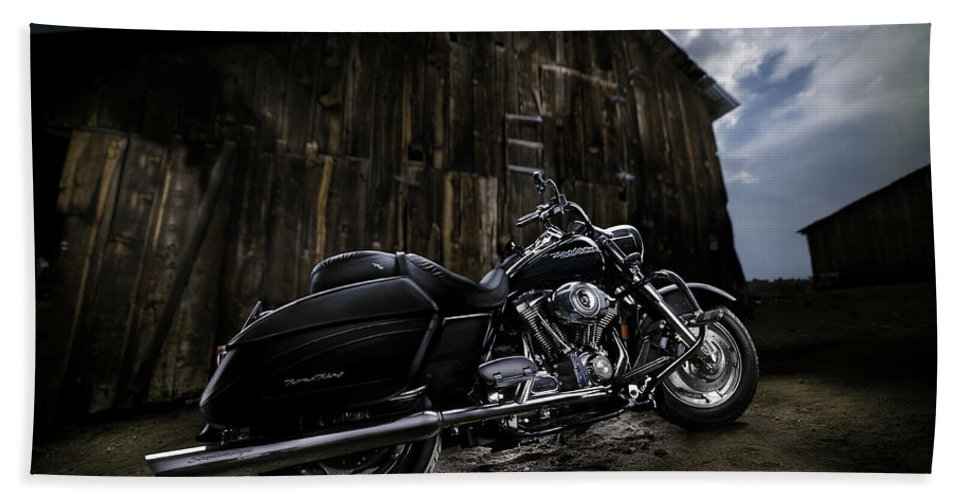 Harley Bath Sheet featuring the photograph Outside The Barn by Yo Pedro