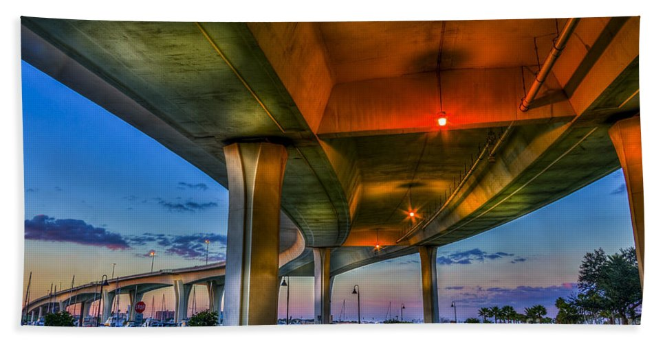 Intercostal Waterway Hand Towel featuring the photograph Over And Beyond by Marvin Spates