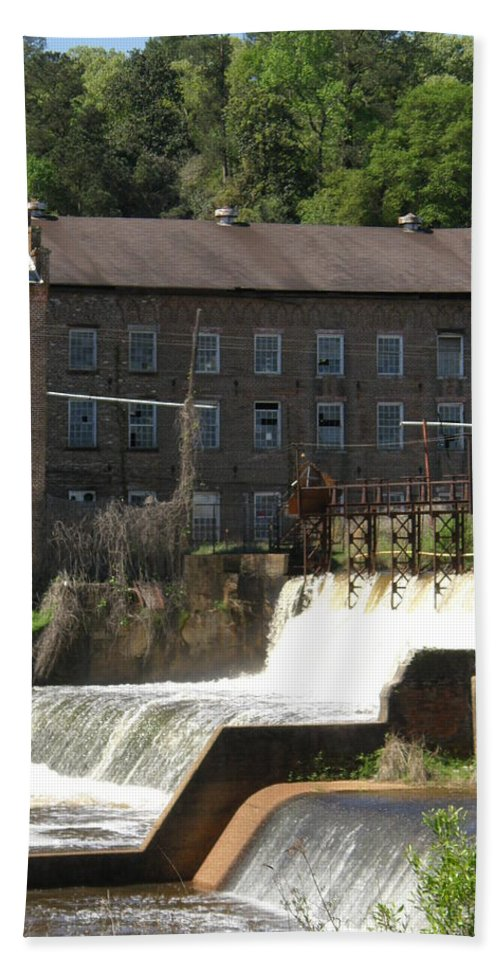 Old Bath Sheet featuring the photograph Over The Dam by Caryl J Bohn