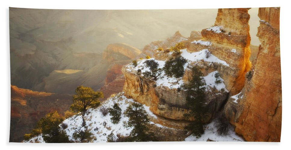 Grand Canyon National Park Hand Towel featuring the photograph Over Time by Peter Coskun