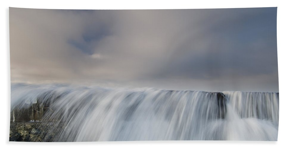 Humboldt Bay Hand Towel featuring the photograph Overflow by Greg Nyquist