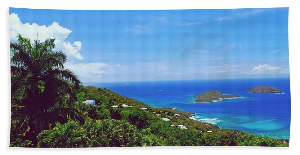 Saint Bath Sheet featuring the photograph Overlooking Paradise by Gary Wonning