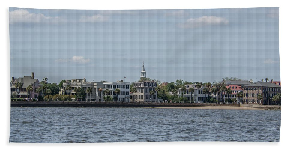 Charleston Hand Towel featuring the photograph Overlooking The Sea by Dale Powell