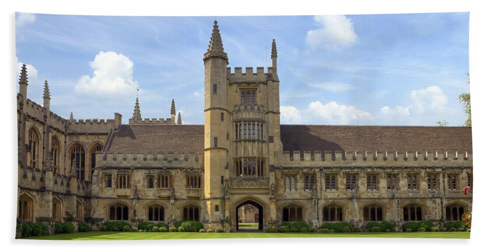Magdalen College Bath Sheet featuring the photograph Oxford by Joana Kruse