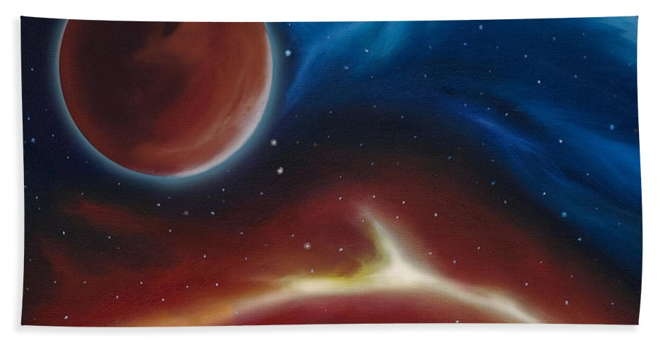 James Hill Bath Sheet featuring the painting Oxytonon by James Christopher Hill