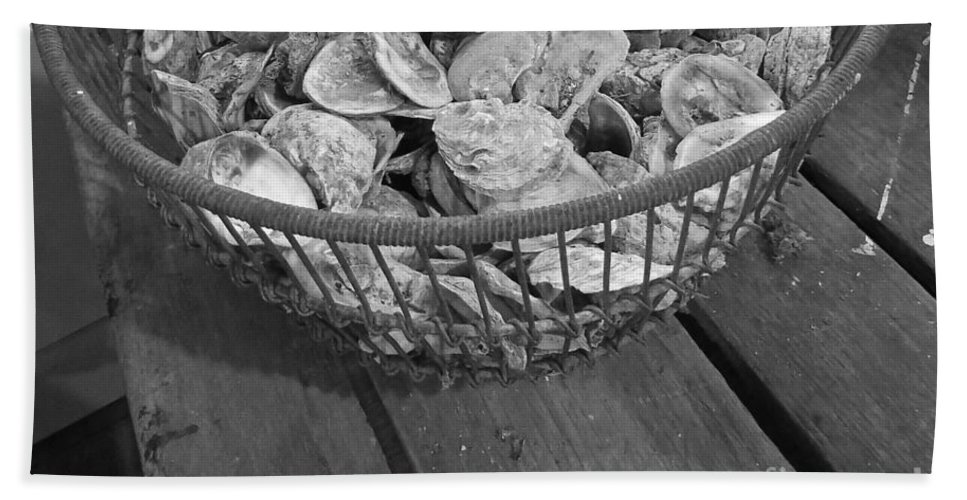 Oyster Shells Bath Sheet featuring the photograph Oysters by Nancy Patterson