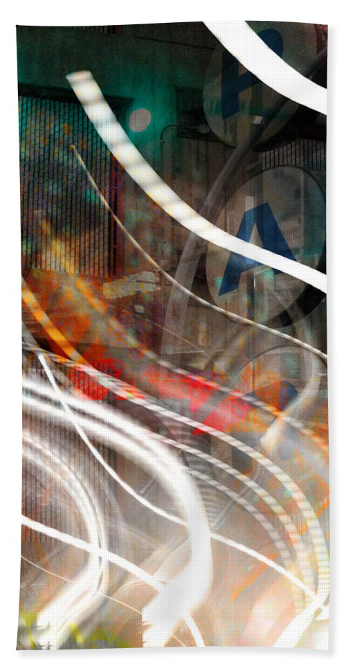 Abstract Art Hand Towel featuring the photograph P A by The Artist Project