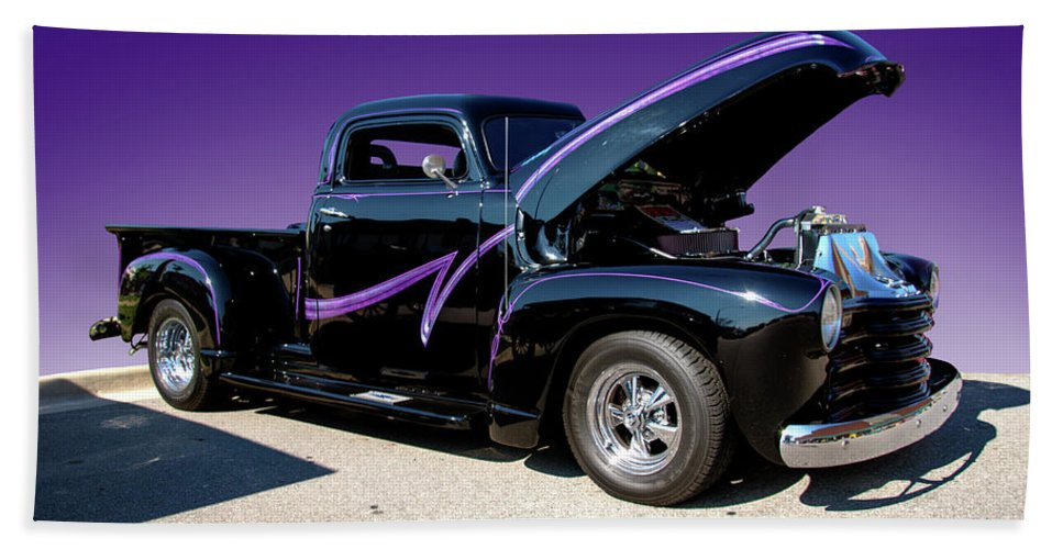 Purple Hand Towel featuring the photograph P P - Purple Pickup by Paul Cannon