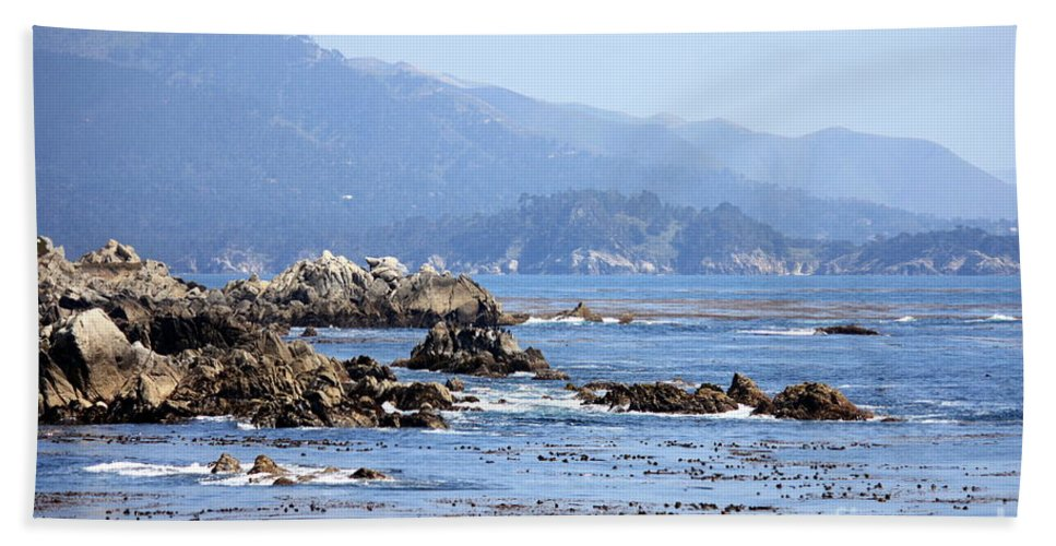 Ocean Hand Towel featuring the photograph Pacific Blues by Carol Groenen