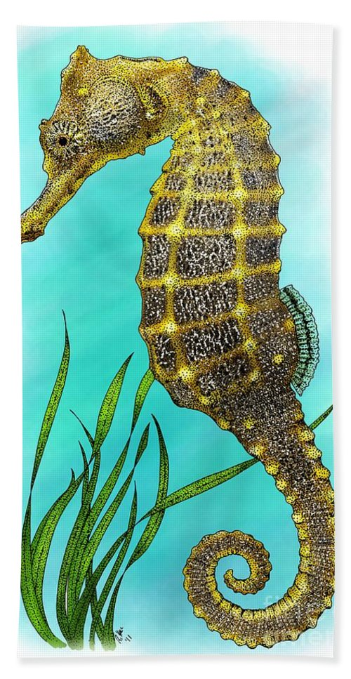 Pacific Seahorse Bath Sheet featuring the photograph Pacific Seahorse by Roger Hall