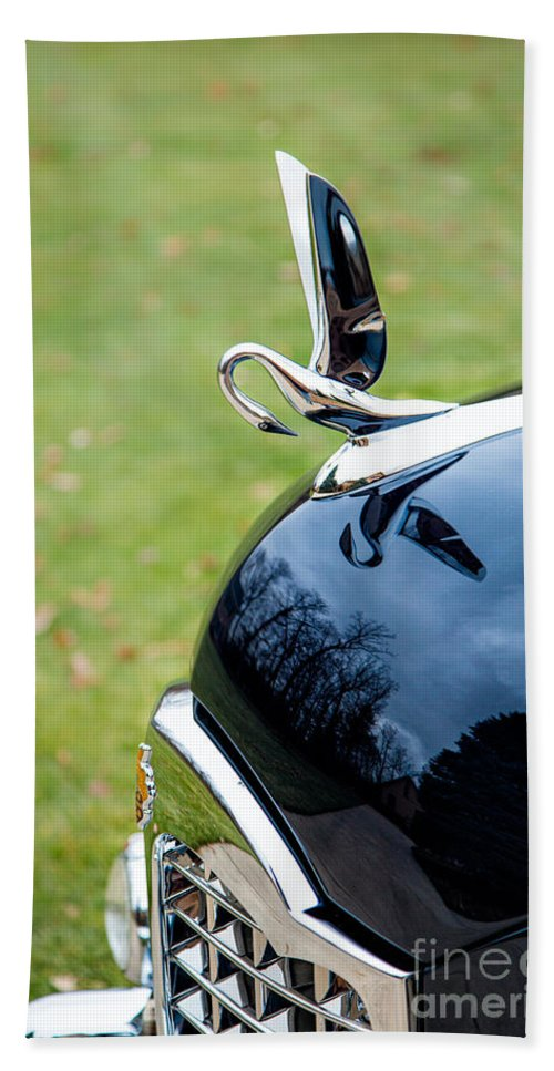 Automobiles Hand Towel featuring the photograph Packard Hood Ornament 1 by Timothy Hacker