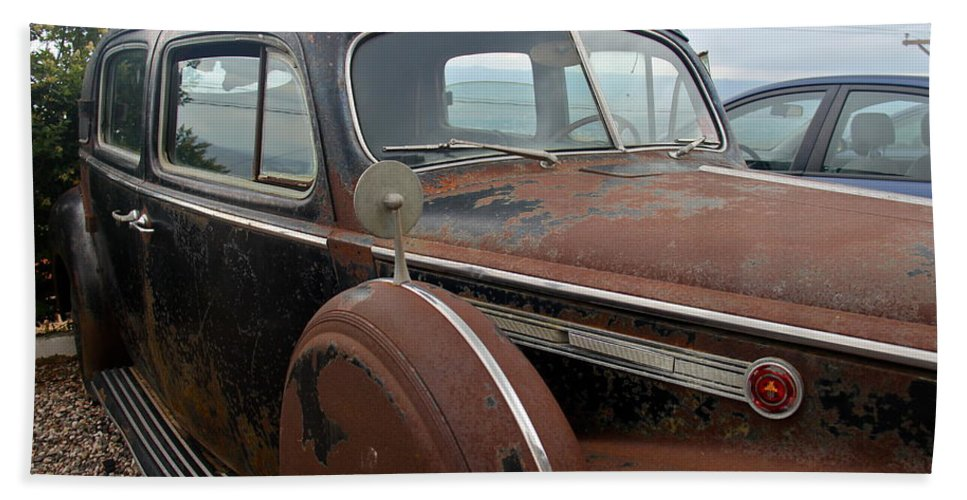 Packard Bath Sheet featuring the photograph Packard One-eighty by Denise Mazzocco