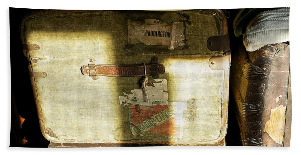 Luggage Bath Sheet featuring the photograph Packed by Christopher Rees