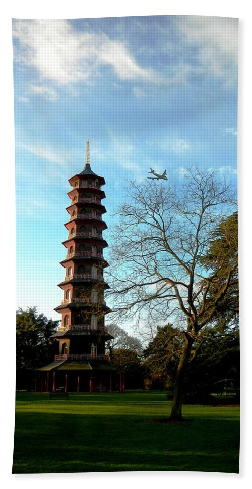 Nature Hand Towel featuring the photograph Pagoda by Loreta Mickiene