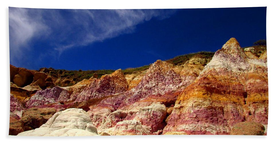 Paint-mines Hand Towel featuring the photograph Paint Mines Beauty by Joyce Dickens