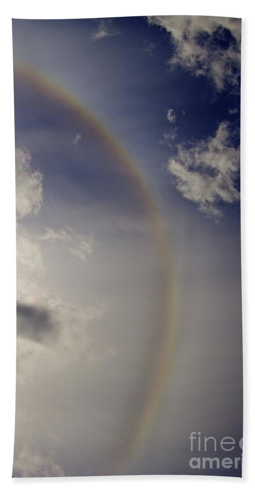 Rainbow Hand Towel featuring the photograph Paint The Sky by Alanna DPhoto