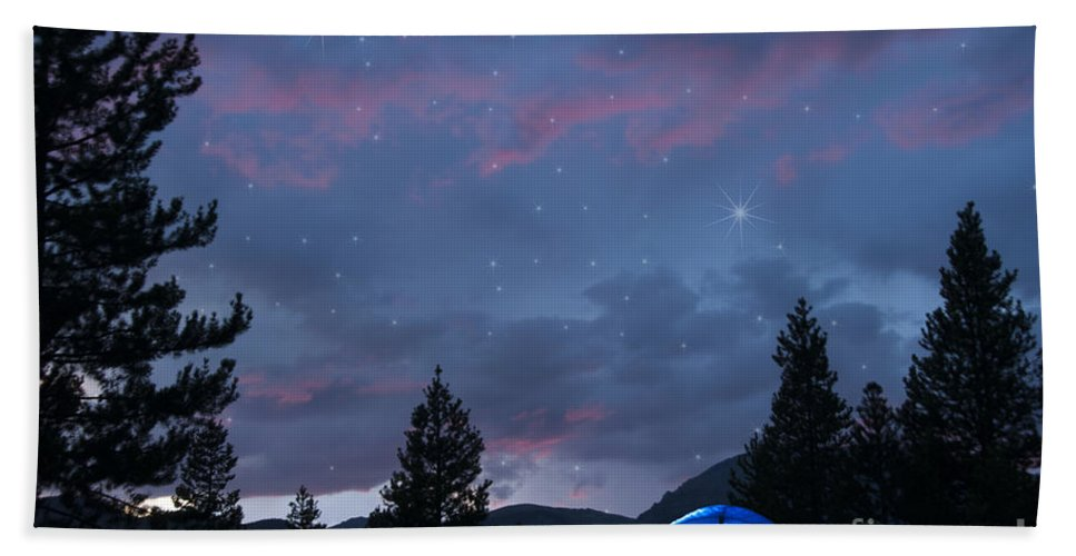 Beauty In Nature Hand Towel featuring the photograph Paint The Sky With Stars by Juli Scalzi