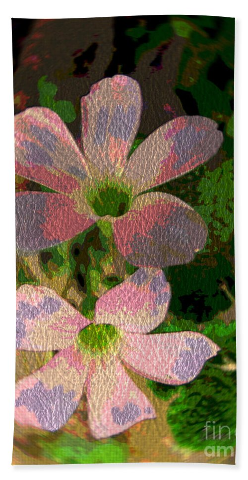 Flowers Bath Sheet featuring the photograph Painted Beauty by Donna Brown