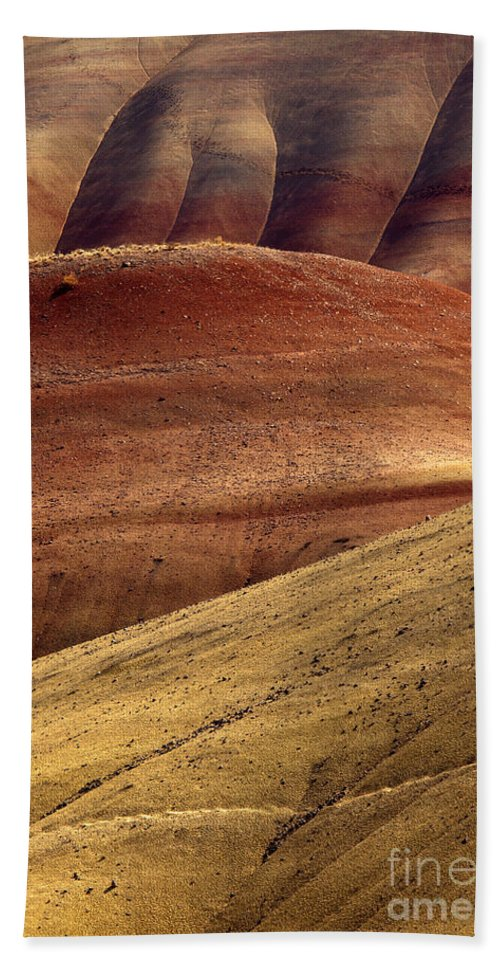 Painted Hills Hand Towel featuring the photograph Painted Curves by Mike Dawson