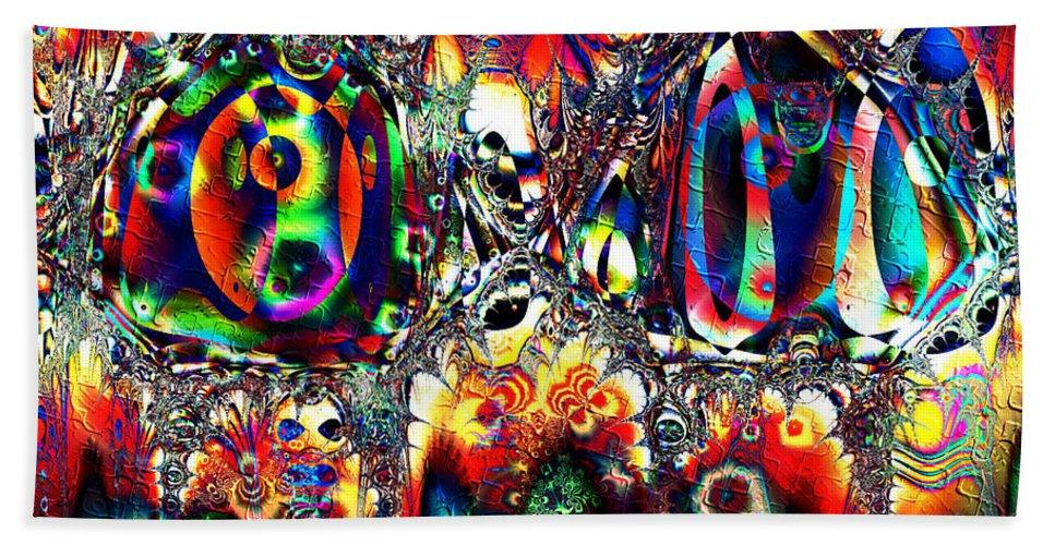 Carnival Hand Towel featuring the digital art Carnival Dancers by Kiki Art